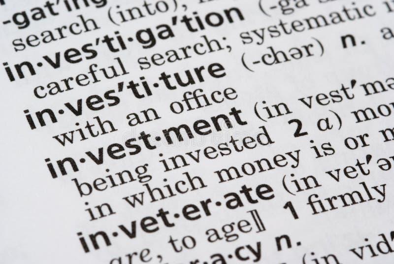 Investimento definido imagens de stock