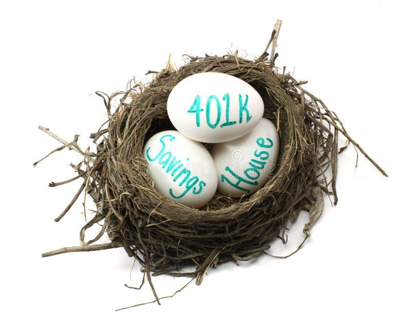 Investimento dell'uovo di nido immagini stock libere da diritti