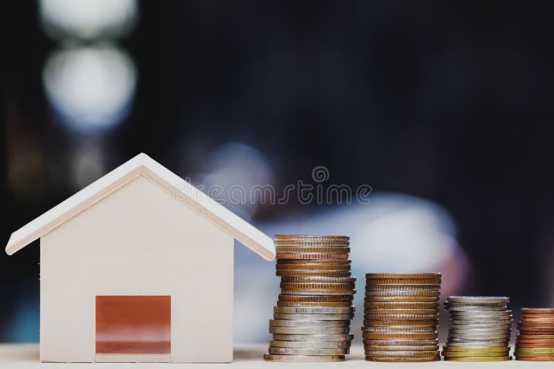 Investimento della proprietà, prestito immobiliare, ipoteca della casa, concetto finanziario residente fotografia stock