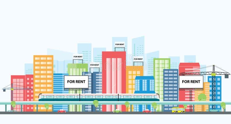 Investimento di bene immobile di affari Investimento della proprietà illustrazione di stock