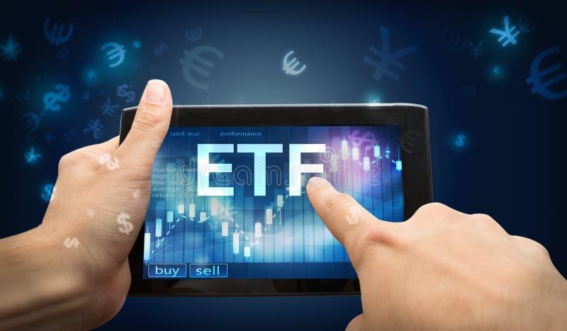 Investimento di ETF immagini stock