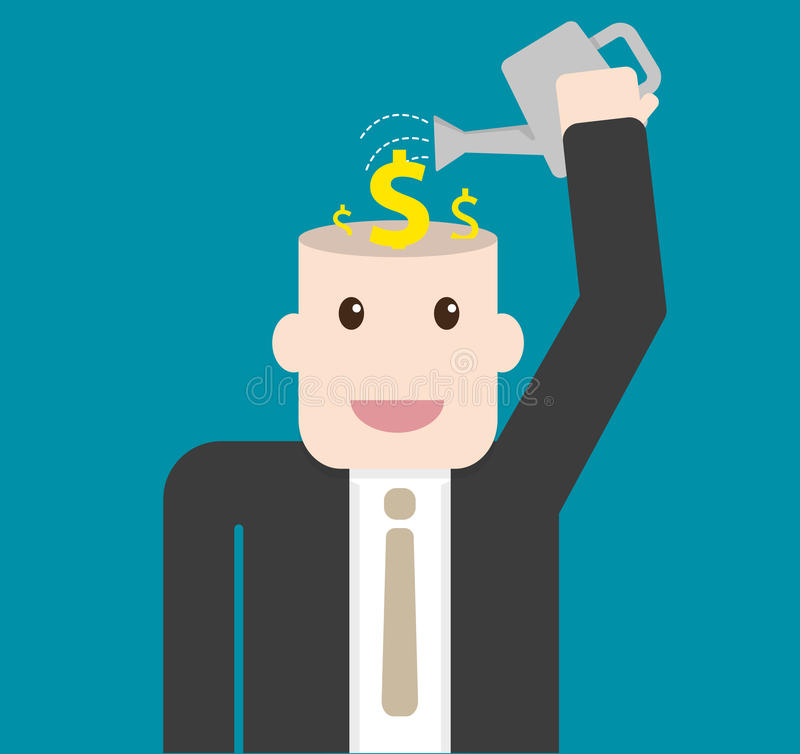 Investimento do homem de negócios no conceito plantado ilustração royalty free