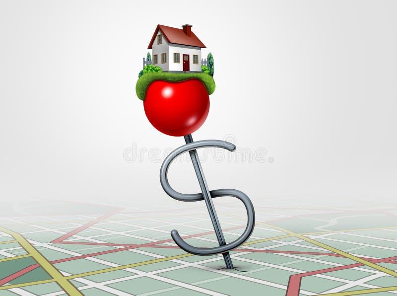 Investimento dos bens imobiliários ilustração do vetor