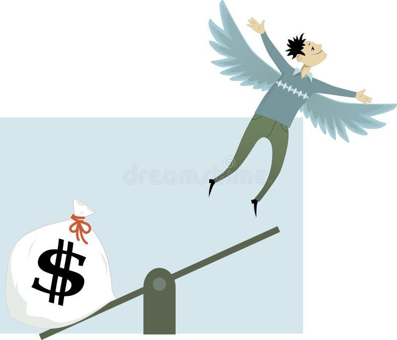 Investimento em uma partida ilustração do vetor
