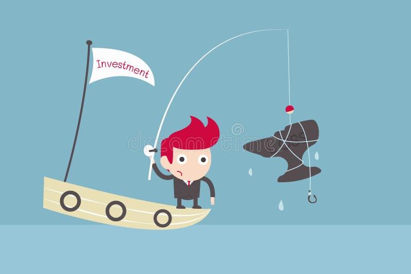 Investimento de risco ilustração do vetor