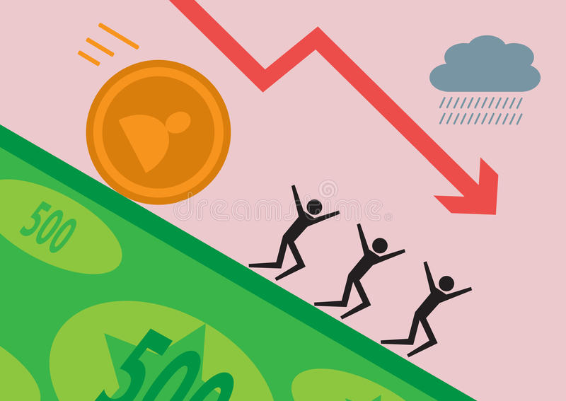 Investimento mau ilustração do vetor