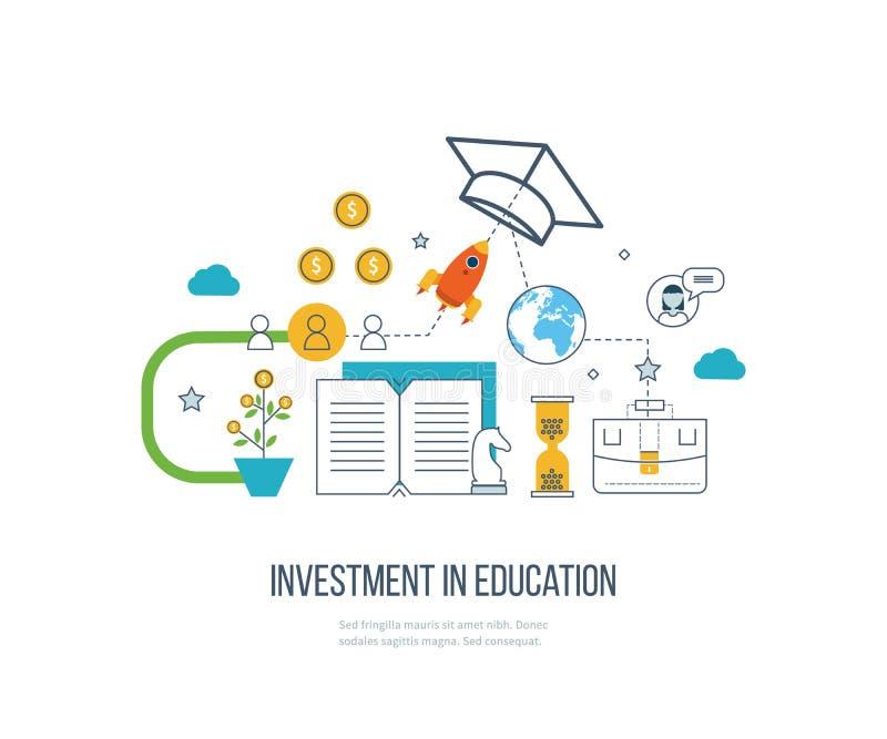 Investimento na educação Desenvolvimento de negócios ilustração royalty free