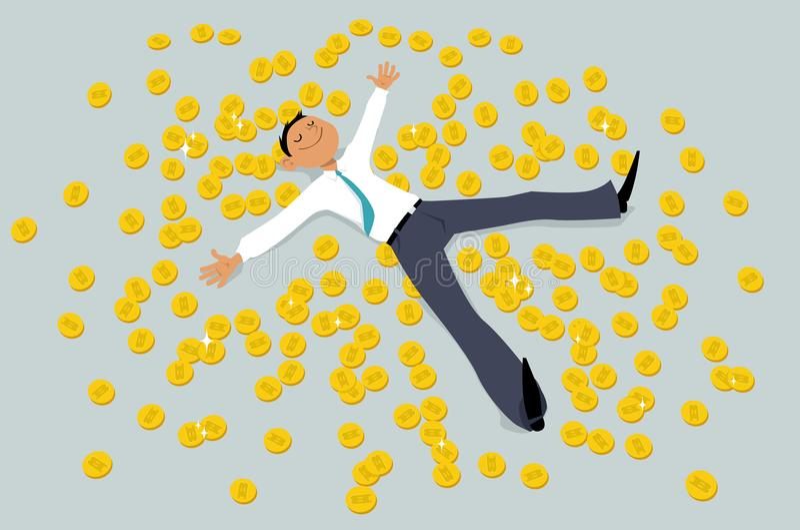 Investimento no cryptocurrency ilustração royalty free