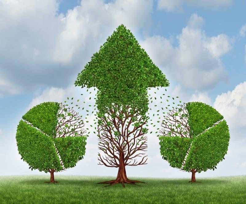 Investimento para o crescimento ilustração royalty free