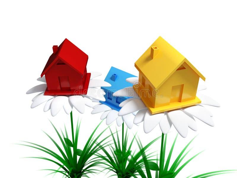 Investimentos ao conceito dos bens imobiliários. ilustração stock
