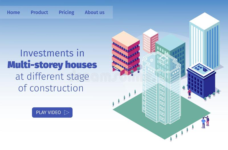 Investimentos da ilustração do vetor no Multi-andar ilustração stock