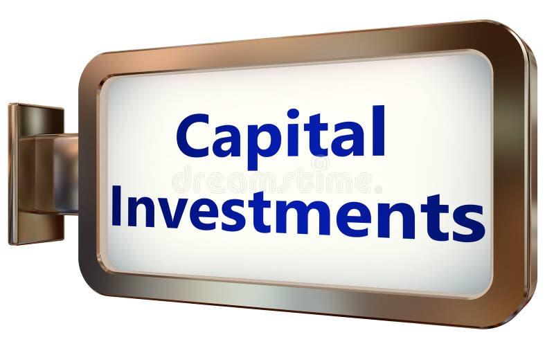Investimentos de capital no fundo do quadro de avisos ilustração do vetor