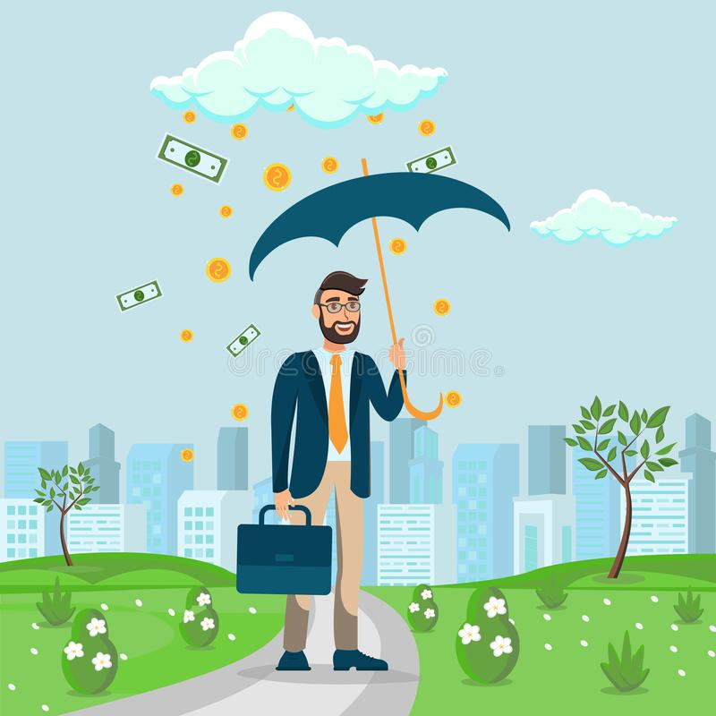 Investimentos, ilustração lisa da instrução financeira ilustração stock