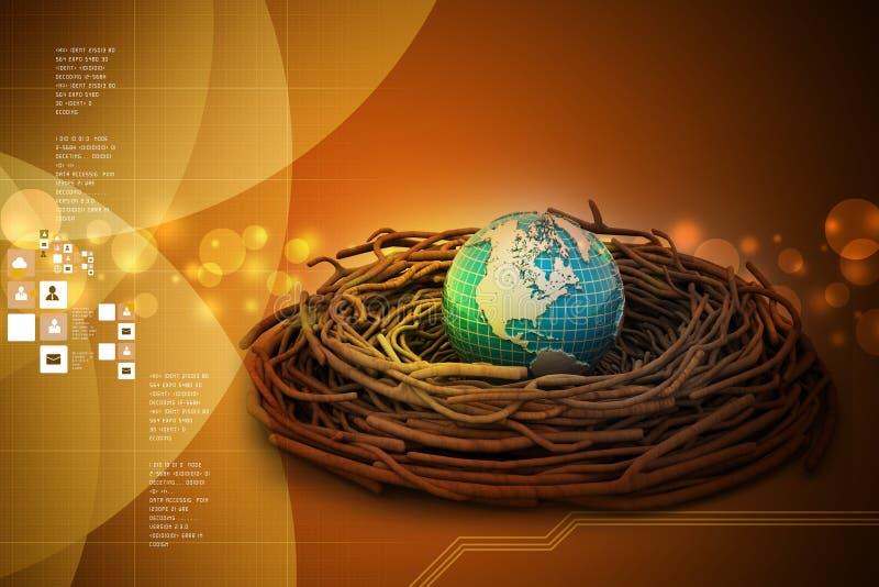 Investimentos internacionais e finança global ilustração stock
