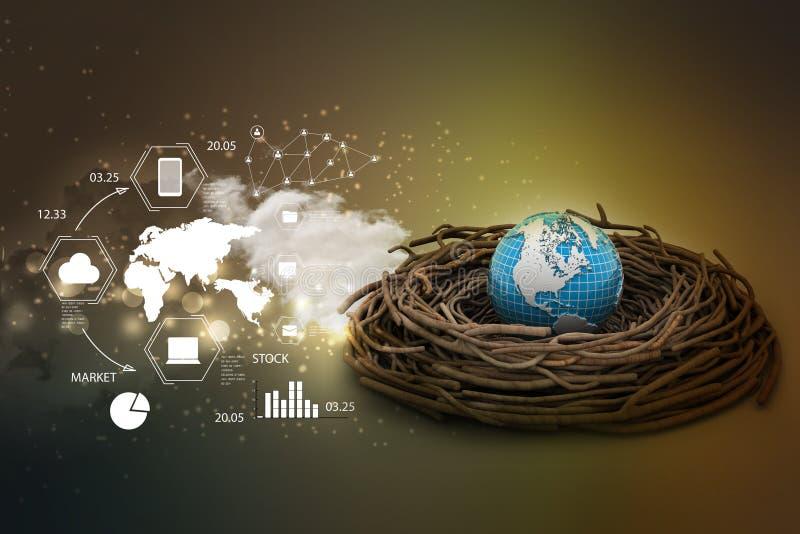 Investimentos internacionais e finança global ilustração royalty free