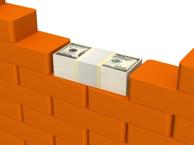 Investimentos na construção ilustração stock