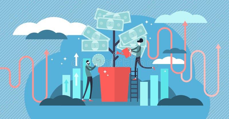 Investindo a ilustração do vetor Deposite o negócio crescente do lucro e da riqueza ilustração do vetor