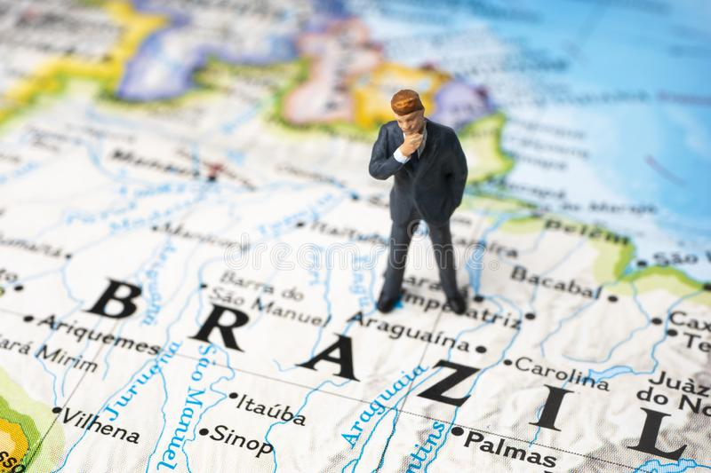 Investing in Brazil royalty free stock photography