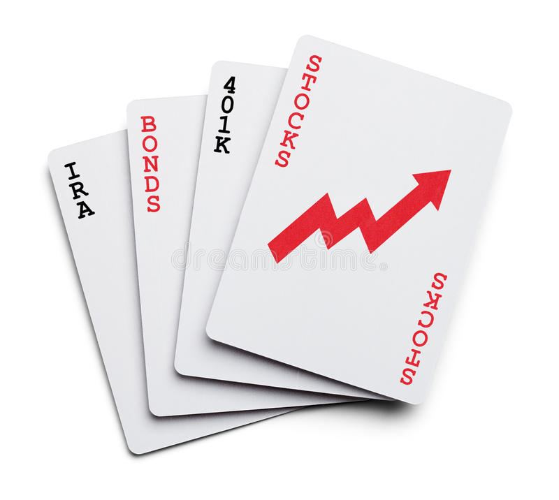Investing Cards royalty free stock image