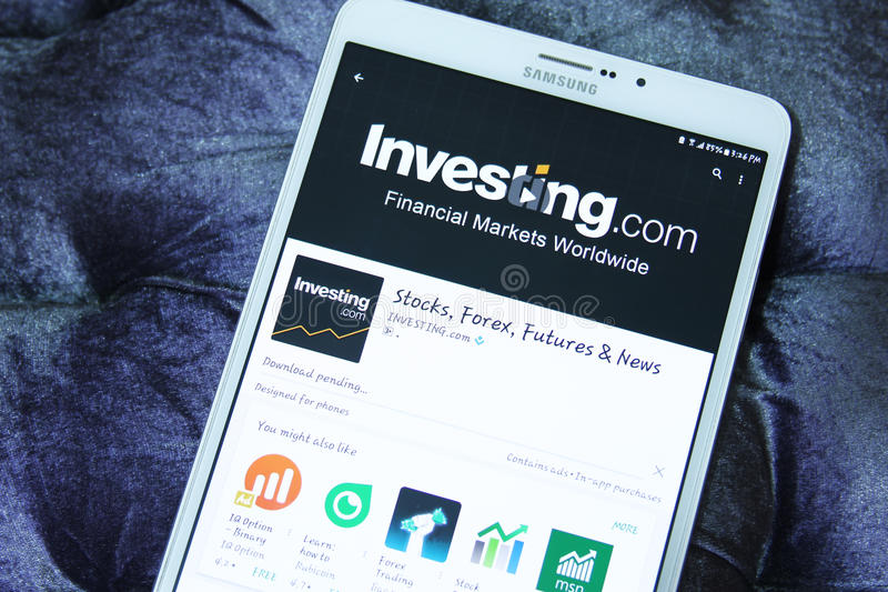 investing COM app móvel foto de stock