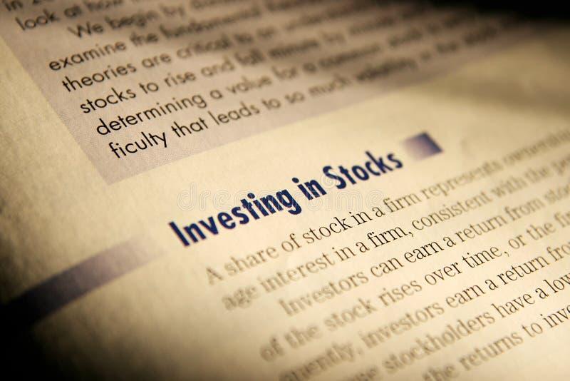 Investing in stocks.
