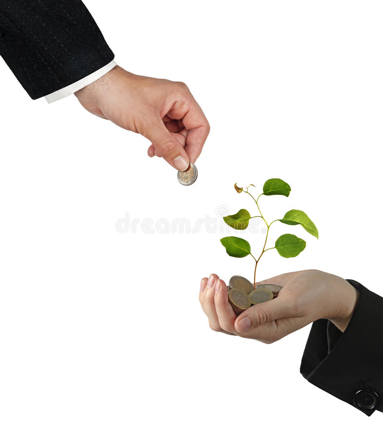 Investing to green business royalty free stock image
