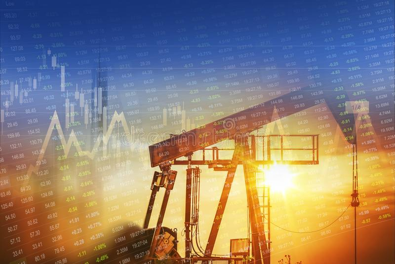 Investissement énergétique de pétrole brut photos stock