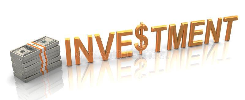 investissement 3d d'or illustration libre de droits