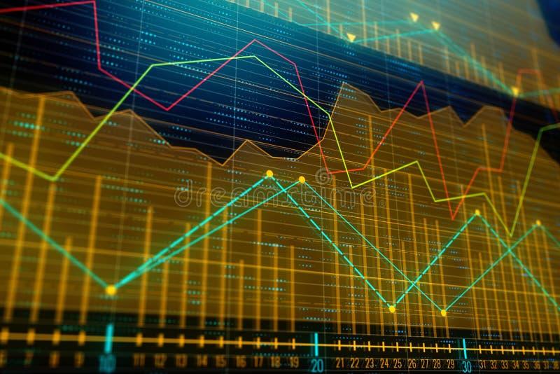 Investissement, commerce et concept d'Internet illustration stock