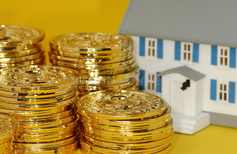 Investissement d'immeubles image stock