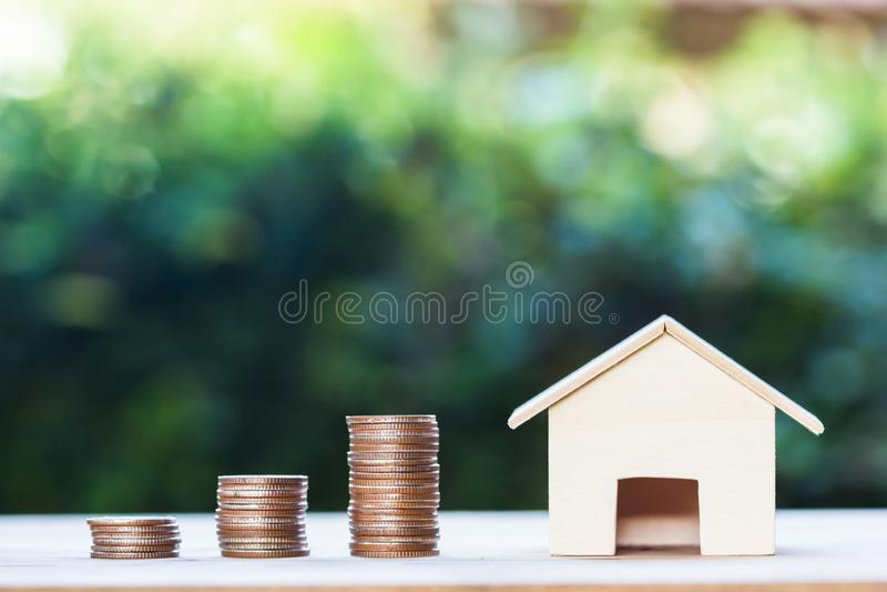 Investissement de propriété, prêt immobilier, hypothèque de maison, financ résident photo libre de droits