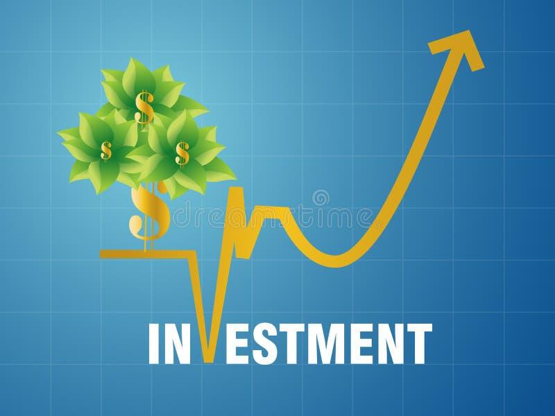 Investissement fructueux illustration de vecteur