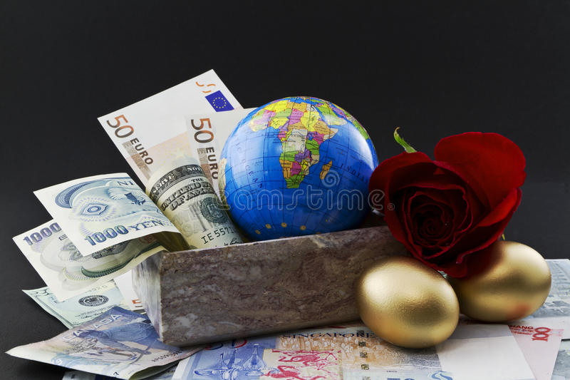 Investissement global, diversification réussie photo stock
