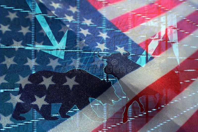 Investissement sur les marchés des Etats-Unis photos libres de droits