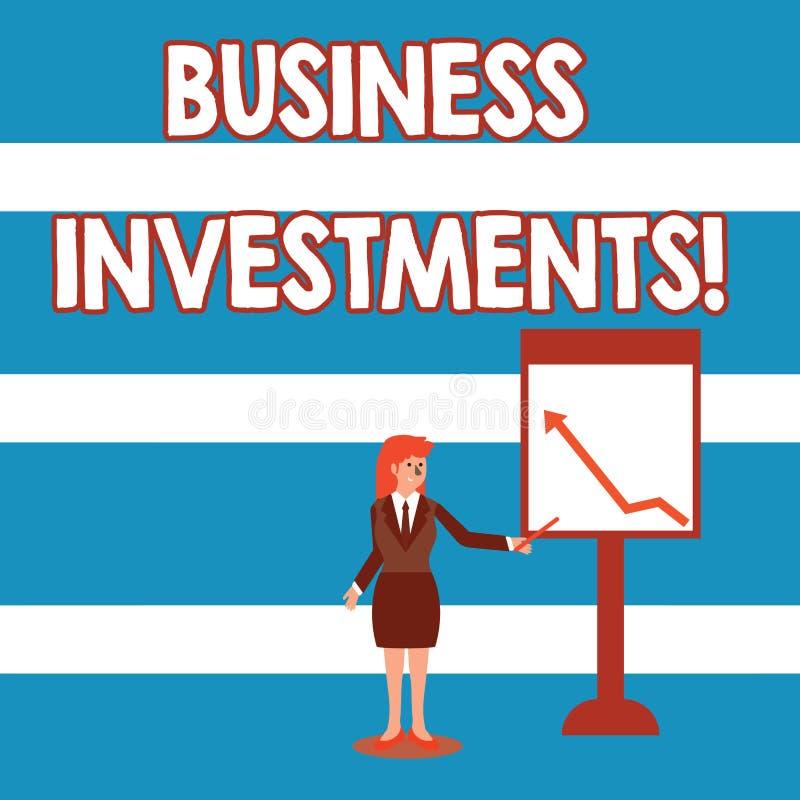 Investissements productifs d'apparence de signe des textes Acte conceptuel de photo d'argent ou de capital de engagement à une f illustration libre de droits