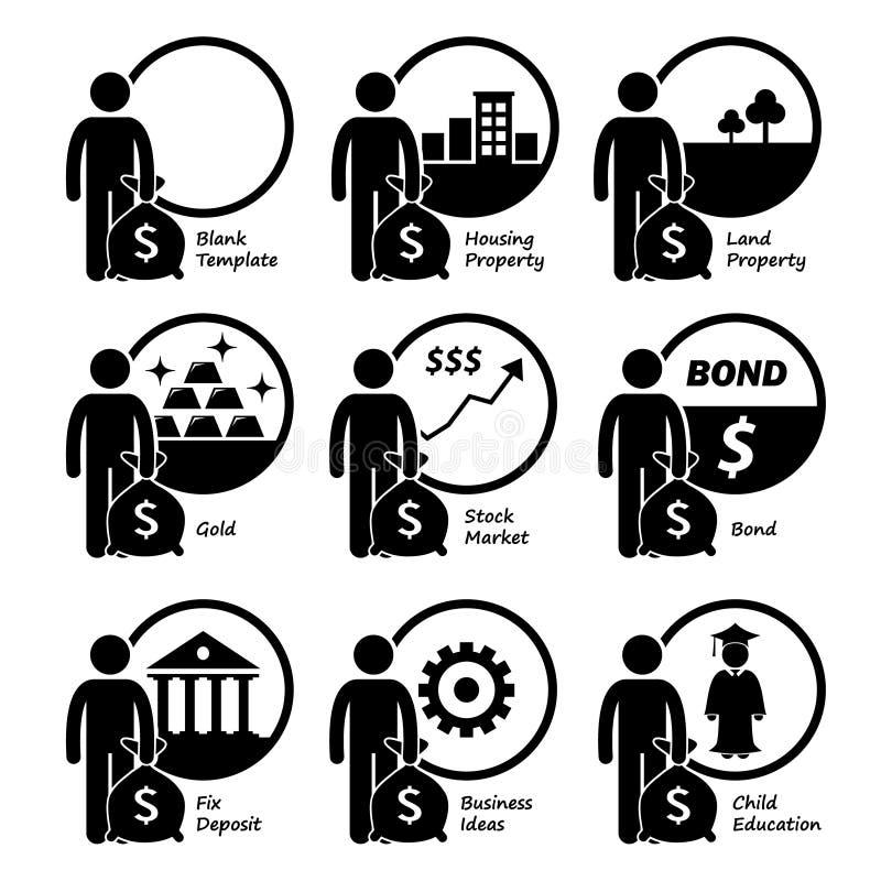 Investisseur investissant l'investissement illustration libre de droits