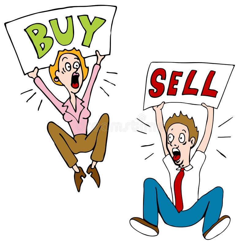 Investisseurs achat-vente illustration libre de droits