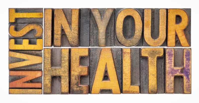 Investissez dans votre concept de santé image libre de droits