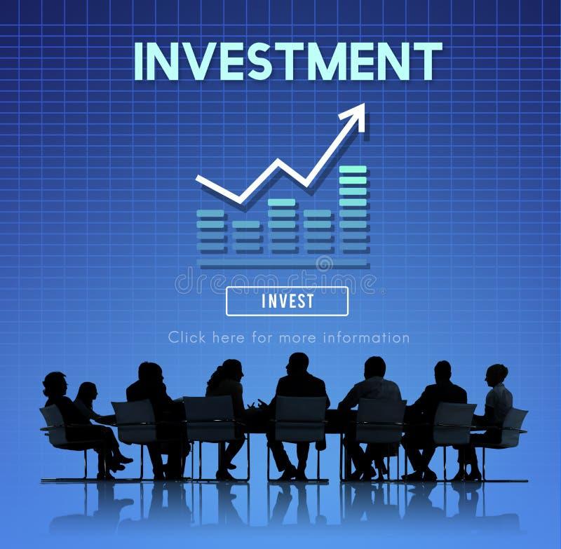 Investissez le concept de coûts de bénéfice de revenu financier d'investissement image stock