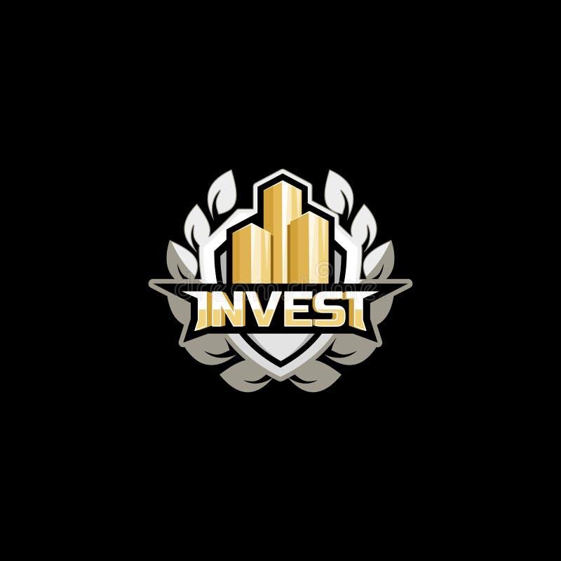Investissez le concept de logo illustration libre de droits