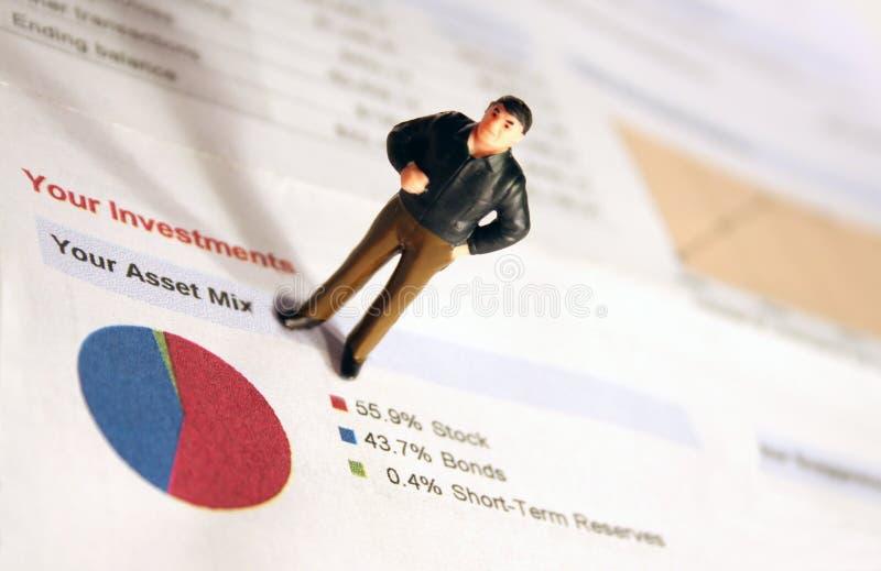 Investitionen, Anlagegüter, Diagramm lizenzfreie stockfotografie