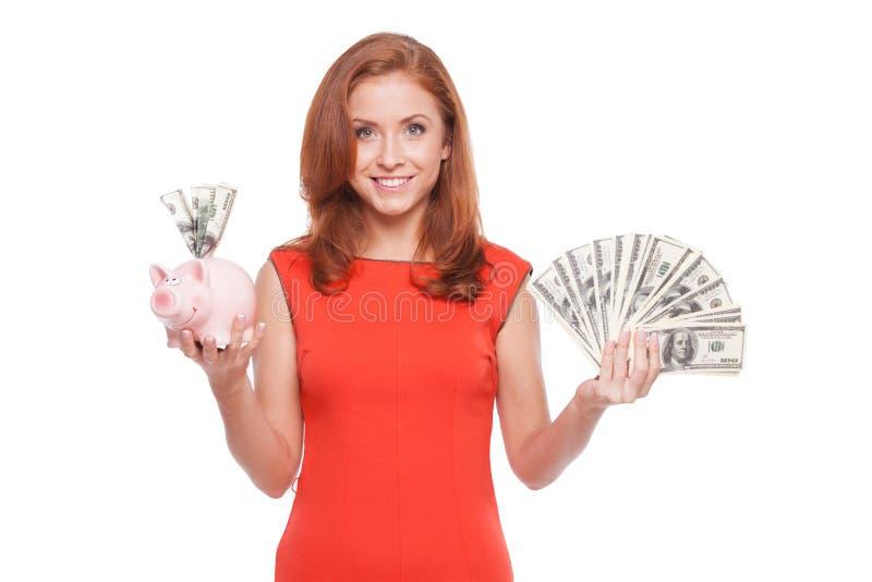 Investitionen und Einsparungen stockfotografie