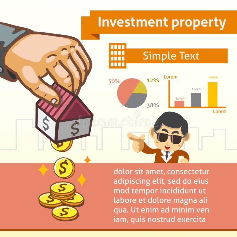 Investitions-Eigentums-grafische Schablone mit Illustration vektor abbildung