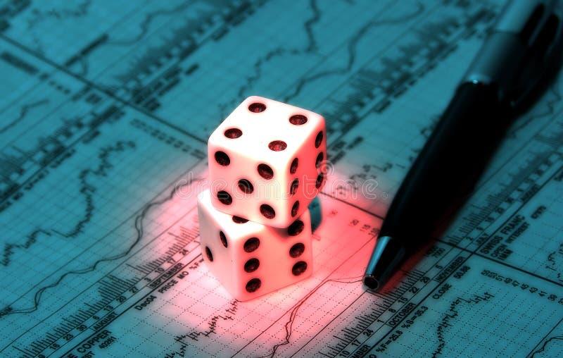 Investitions-Glücksspiel lizenzfreie stockbilder