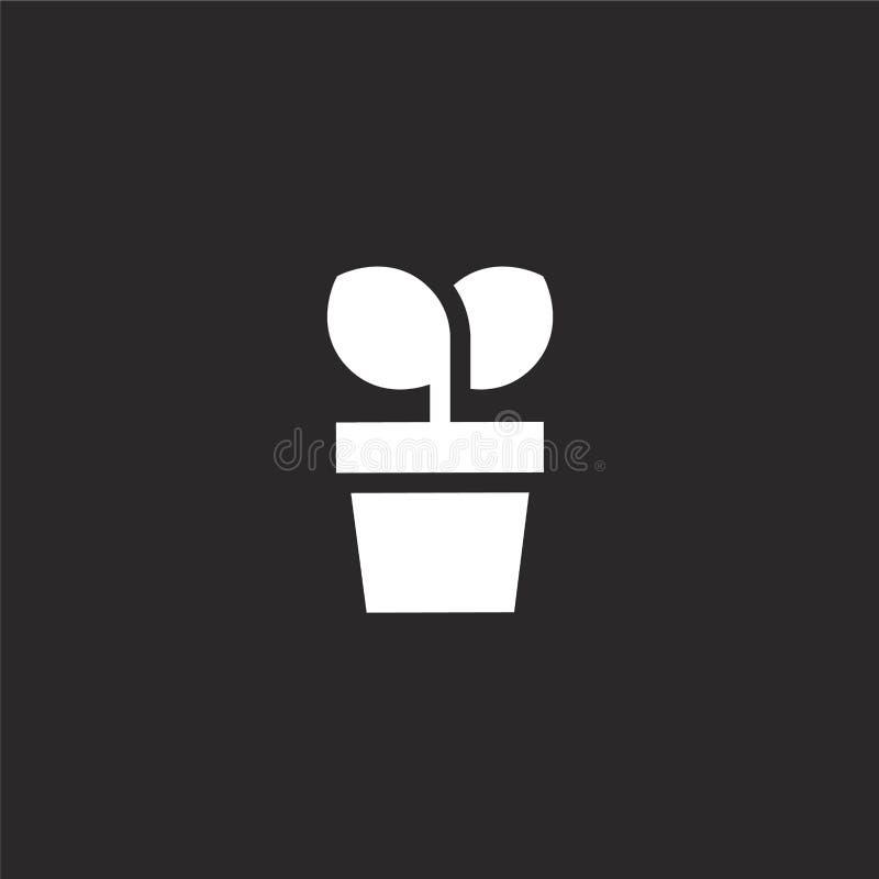 Investitions-Ikone Gefüllte Investitionsikone für Websiteentwurf und Mobile, Appentwicklung Investitionsikone von gefülltem Manag stock abbildung