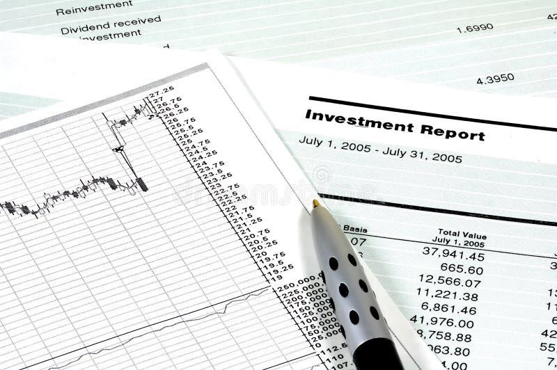 Investitions-Report lizenzfreie stockfotos