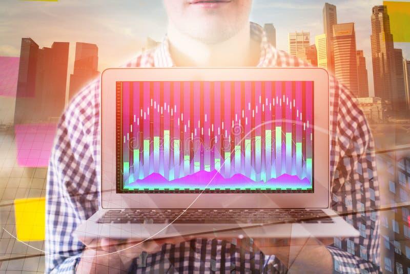 Investitions- und Darstellungskonzept lizenzfreies stockfoto