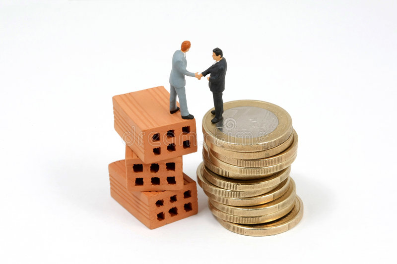 Investment business metaphor royalty free stock photos