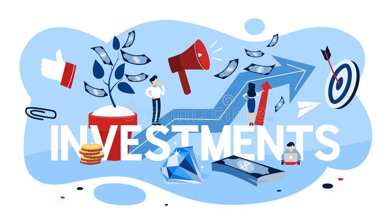 Investment concept illustration. Idea of financial support. stock illustration