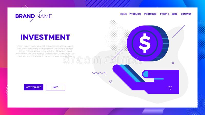 Investment concept illustration. Investment concept vector illustration in modern flat design for landing page, website template, mobile app, etc stock illustration
